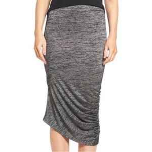 NWT Trouve Space Dyed Knit Midi Stretch Skirt